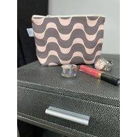 Mallow Portuguese Mirage Cotton Linen Mix Makeup Bag
