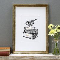 Personalised 'Books' First Wedding Anniversary Print
