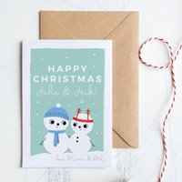 Couples Or Newly Weds Christmas Card Personalised