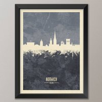 Norwich Skyline Print And Box Canvas