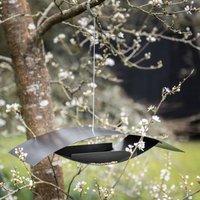 Modern Hanging Metal Bird Seed Feeder