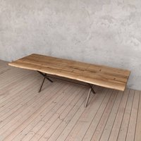Chelsea Extendable Live Edge Oak Dining Table
