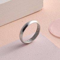 Slim Curved Secret Fingerprint Ring