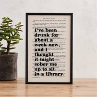 The Great Gatsby 'Drunk' Quote Print