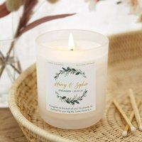 Engagement Gift Botanical Candle Personalised