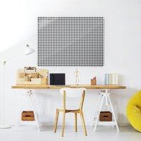 Gingham Design Large Magnetic Kitchen Noticeboard