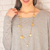 Long Chains Of Gold Necklace, Gold