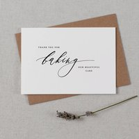 'Thank You For Baking Our Beautiful Cake' Wedding Card