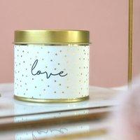 'Love' Sparkle Candle Tin