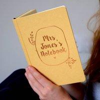 Personalised Wreath Notebook
