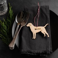 Personalised Wooden Dog Christmas Place Setting