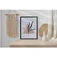 Pink Triangle Palm Abstract Wall Art Print