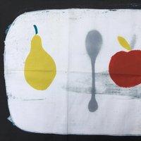 Apple + Pear + Spoon Tea Towel