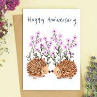 Hedgehog Anniversary Card