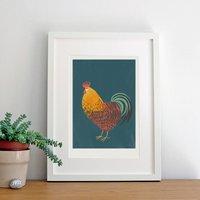 Illustrated Cockerel Art Print Giclee