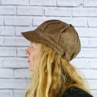 Brown Yorkshire Tweed Baker Boy Hat