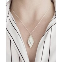 Sterling Silver Jesmonite Terrazzo Rhombus Necklace, Silver