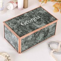 Luxury Personalised Marbled Trinket Box