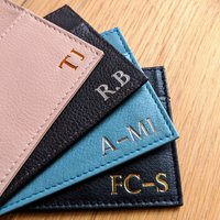 Foiled Personalised Leather Card Holder