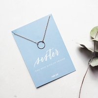 Sister Necklace And Keepsake Card