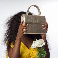 Gold Leather Handbag