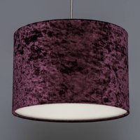Aubergine Crushed Velvet Effect Drum Lampshade