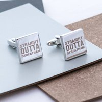 Personalised 'Straight Outta Compton' Cufflinks