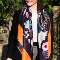 Personalised Florals Of Kew Studio Design Scarf