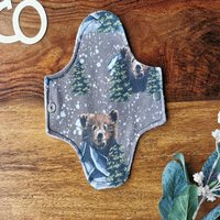 Mountain Bear Print Reusable Fabric Sanitary Pad