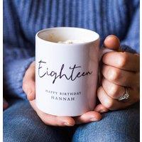Personalised 18th Birthday Mug
