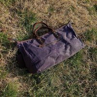 Waxed Canvas Gym Boot Bag
