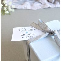 Personalised Couples Wedding Favour Tags