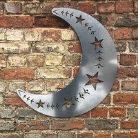 Metal Moon Garden Sign Ornament Decoration