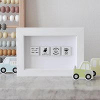 Personalised New Baby Wall Art