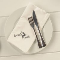 Personalised Napkins For Christmas