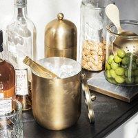 Brass Finish Ice Bucket