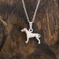 Solid Silver Dalmatian Pendant/Necklace, Silver