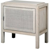 Marco White Wash Rattan Right Bedside Cabinet