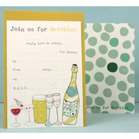 Party/Drinks/Invitations Pack Of Eight