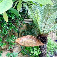 Copper Leaf Bird Feeder