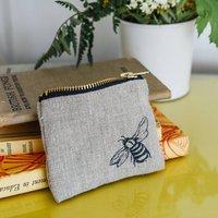 Bee Linen Coin Purse