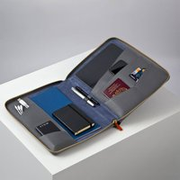 Personalised Luxury Leather And Suede Laptop Wallet