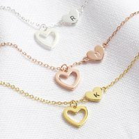 Personalised Mismatched Heart Necklace