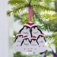 Personalised Penguin Family Decoration