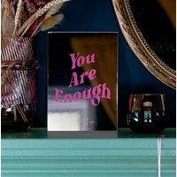 'You Are Enough' Slogan Mirror