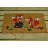 Playful Fox Coir Doormat