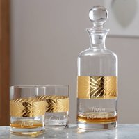 Personalised Gold Etched Brandy Decanter