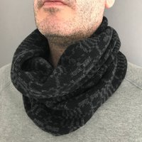 Mens Geometric Knitted Lambswool Snood