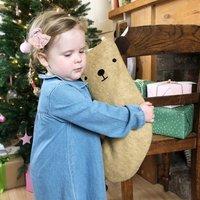 Bear Handmade Felt Dress Up Christmas Stocking