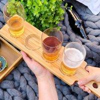 Personalised Wooden Beer Flight